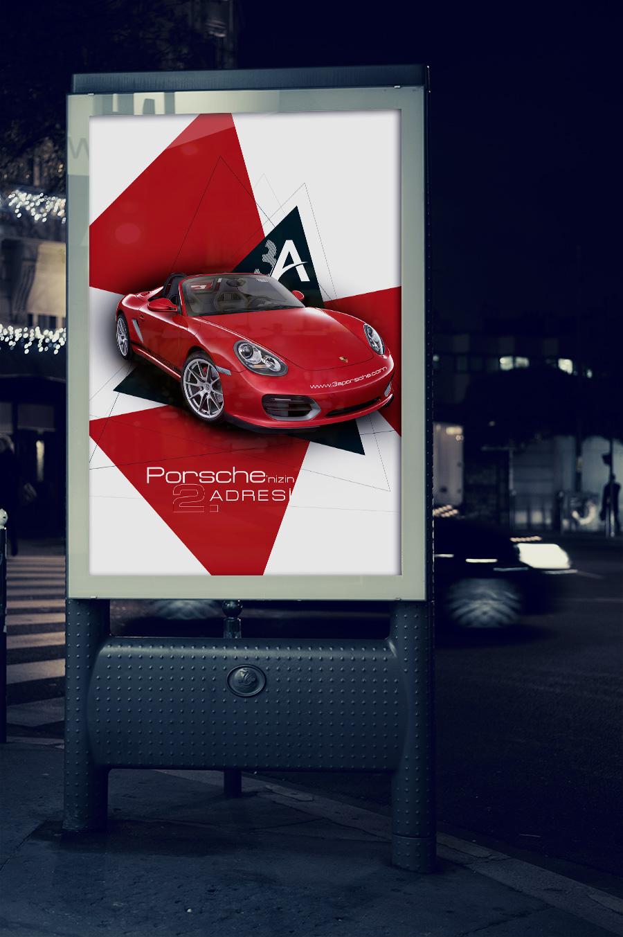 3a porsche raket poster tasarımı
