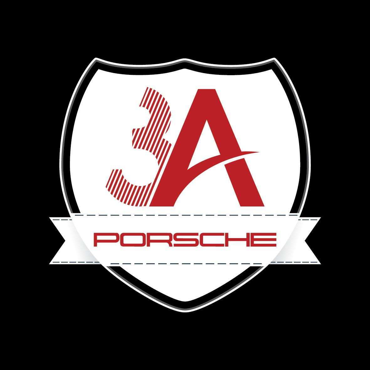 3a porsche logo tasarimi siyah zemin