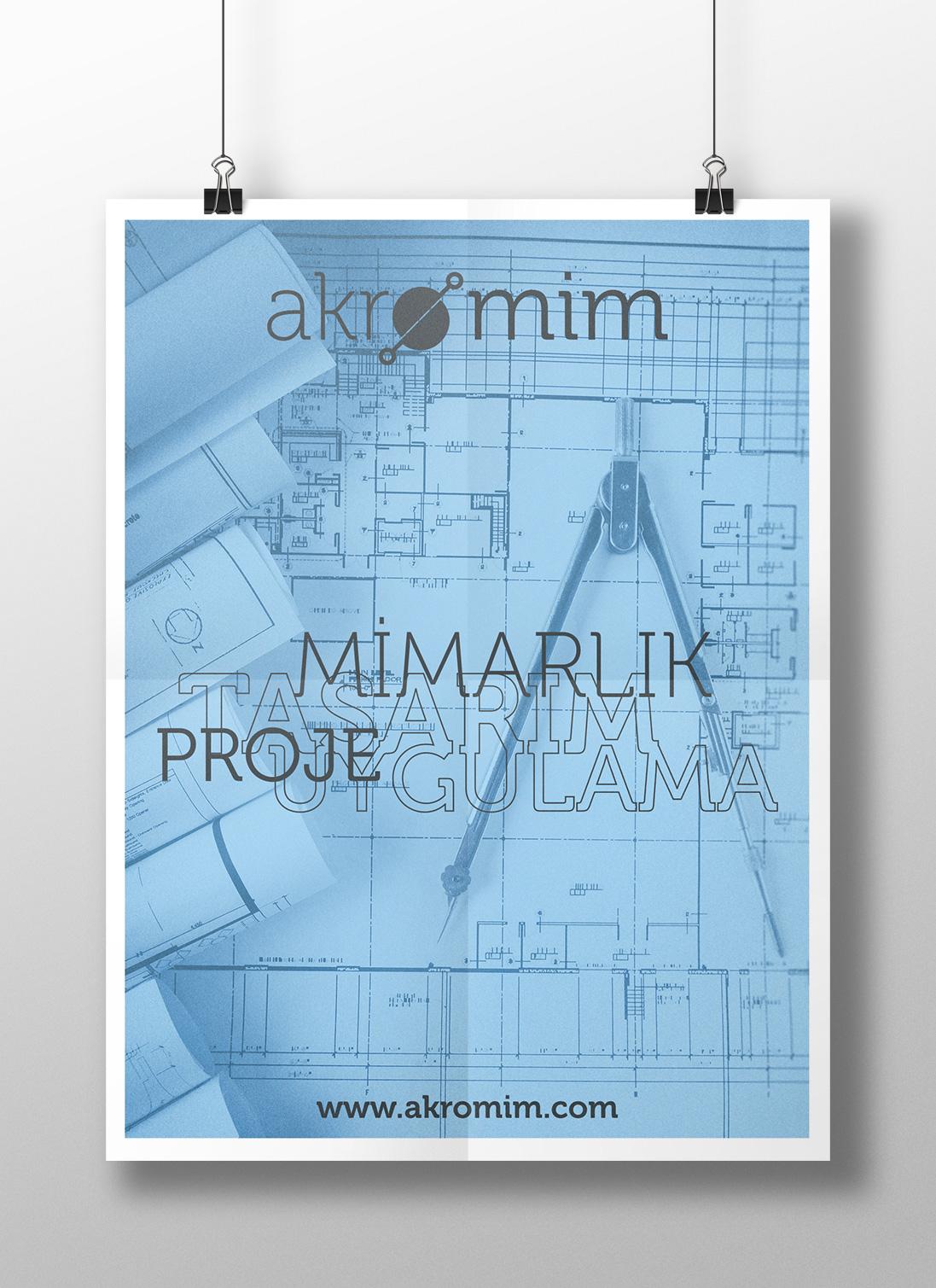 Akromim Mimarlık Poster Tasarımı