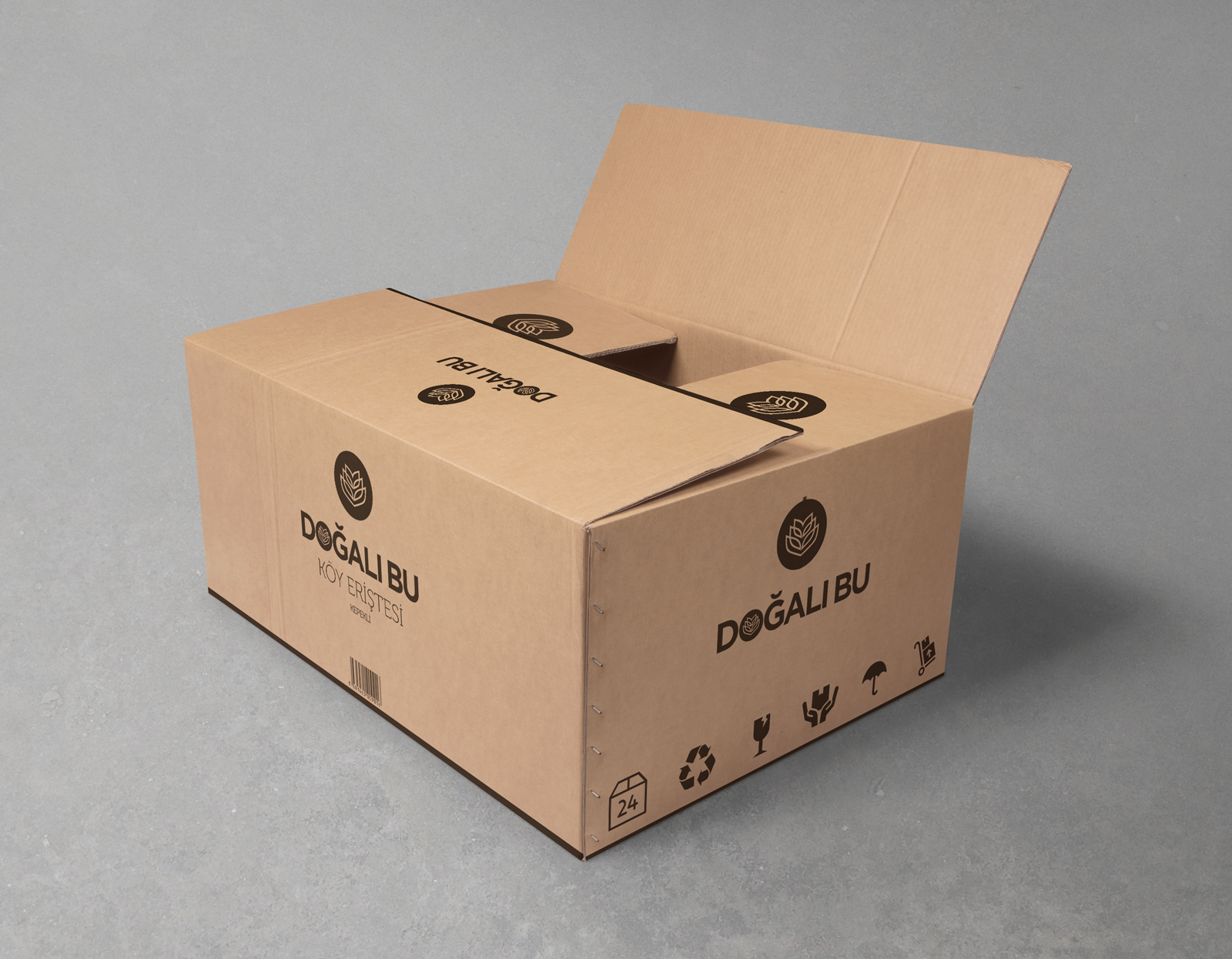 Doğalı Bu Erişte Karton Kutu Tasarımı