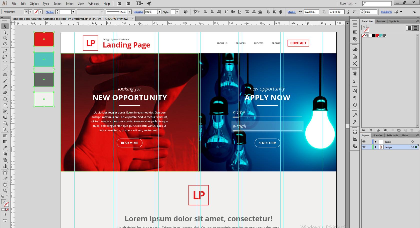 Landing Page Illustrator Çizim | Umut Avcı
