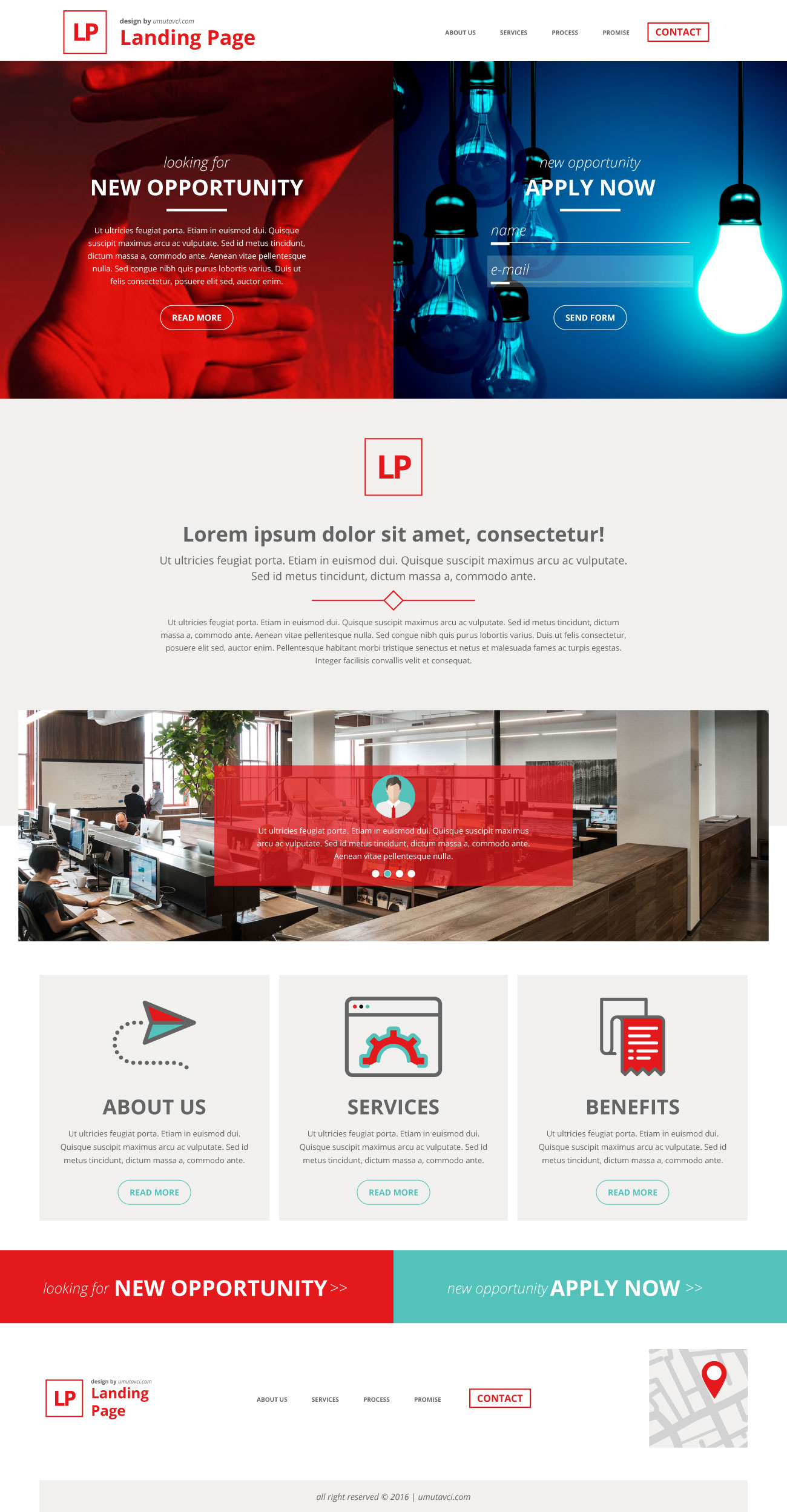 Landing Page Free Vector Komple by umutavci