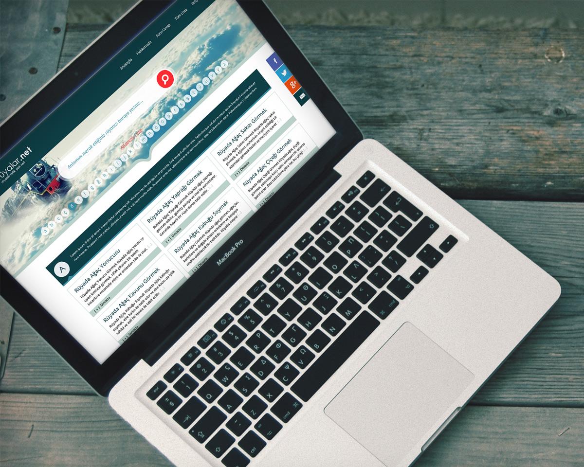 ruyalar.net web sitesi anasayfa tasarımı komple laptop