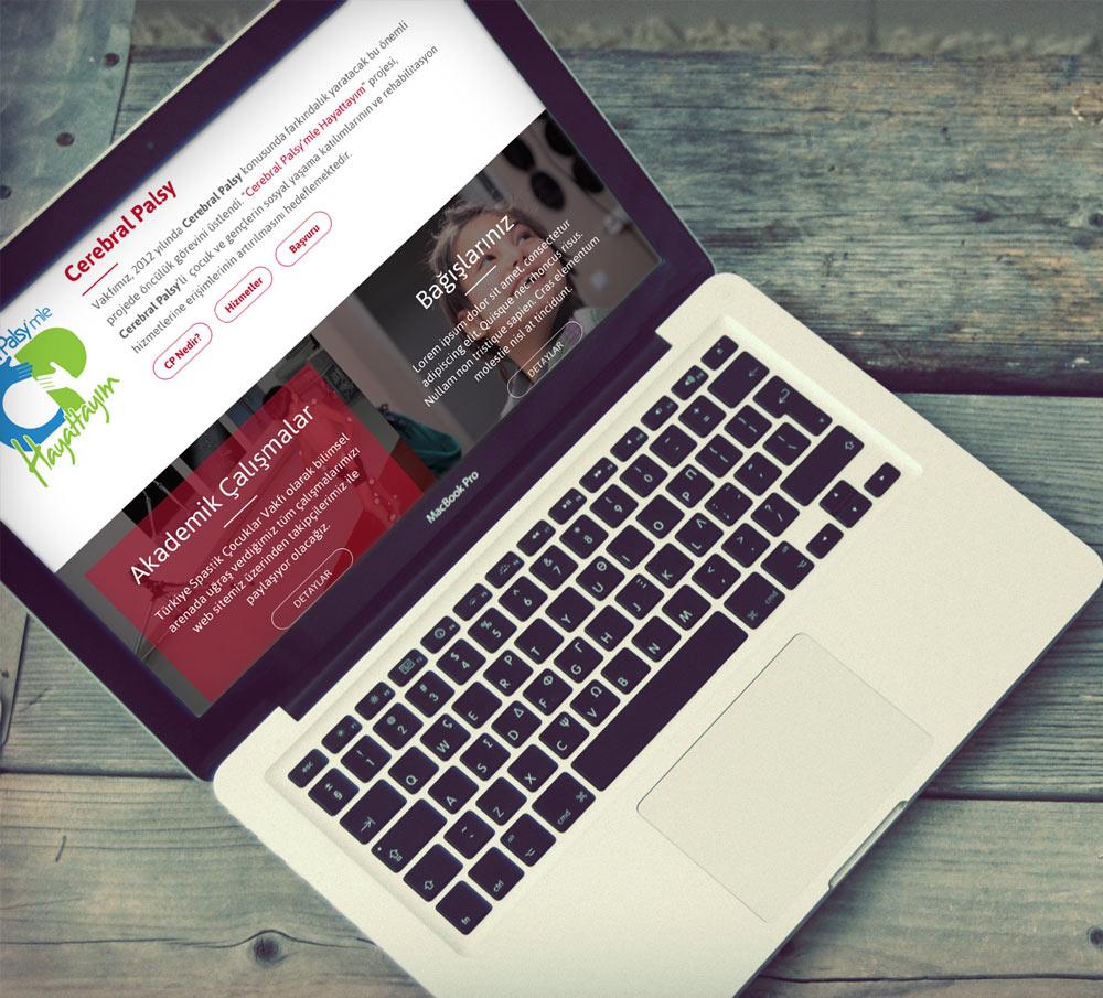 Türkiye Spastik Çocuklar Vakfı Web Tasarım Mockup - Umut AVCI